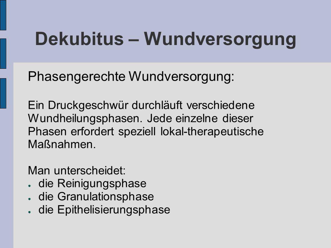 Dekubitus – Wundversorgung