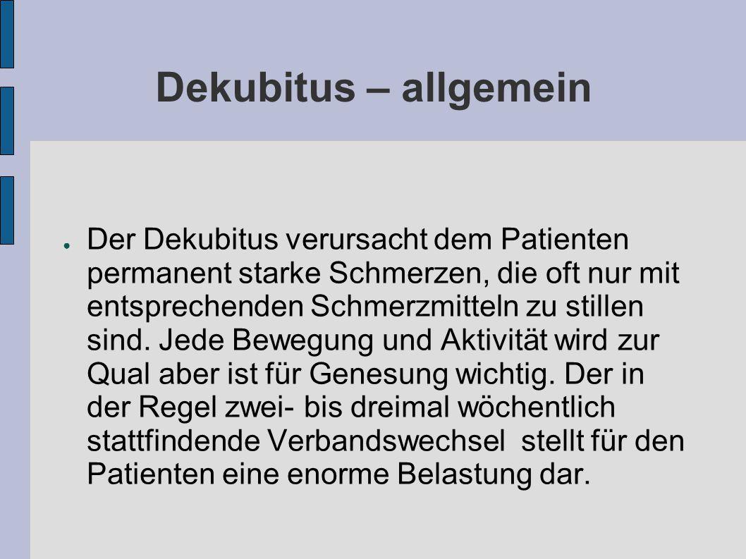 Dekubitus – allgemein