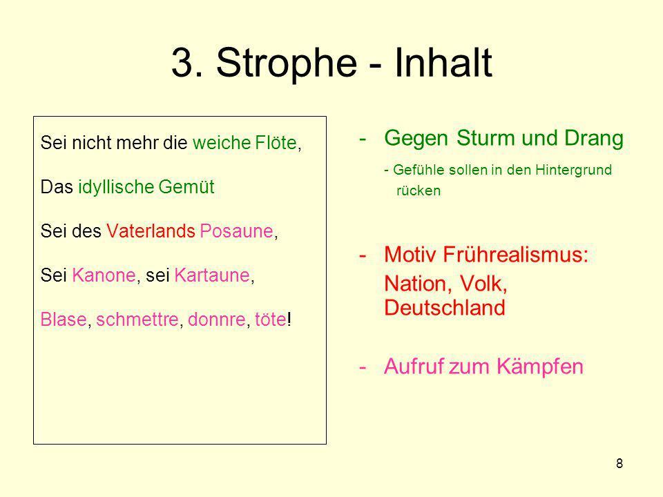 3. Strophe - Inhalt Gegen Sturm und Drang