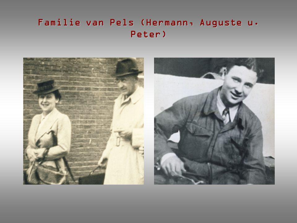 Familie van Pels (Hermann, Auguste u. Peter)