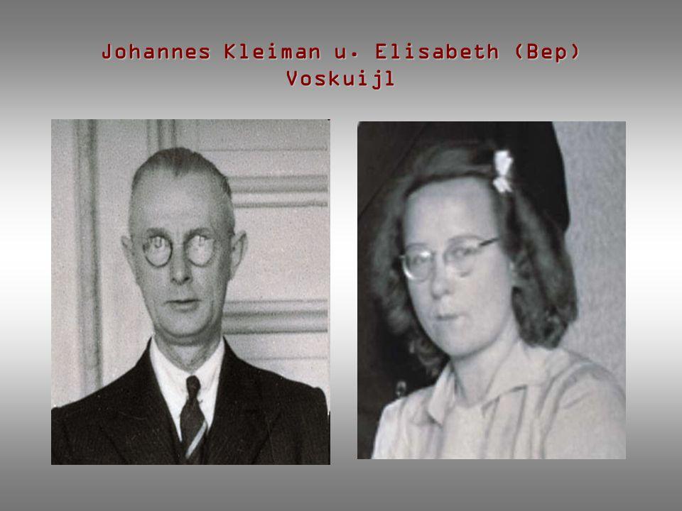 Johannes Kleiman u. Elisabeth (Bep) Voskuijl