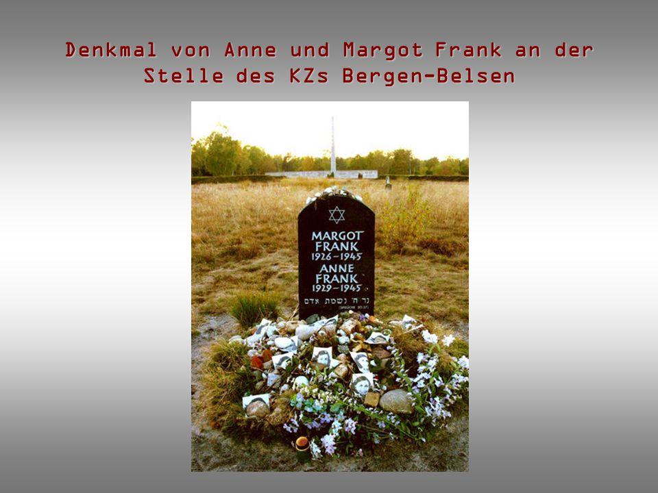 Denkmal von Anne und Margot Frank an der Stelle des KZs Bergen-Belsen