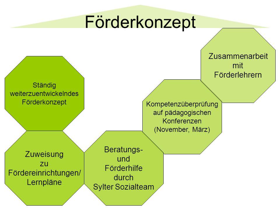 Förderkonzept Zusammenarbeit mit Förderlehrern Beratungs- Zuweisung