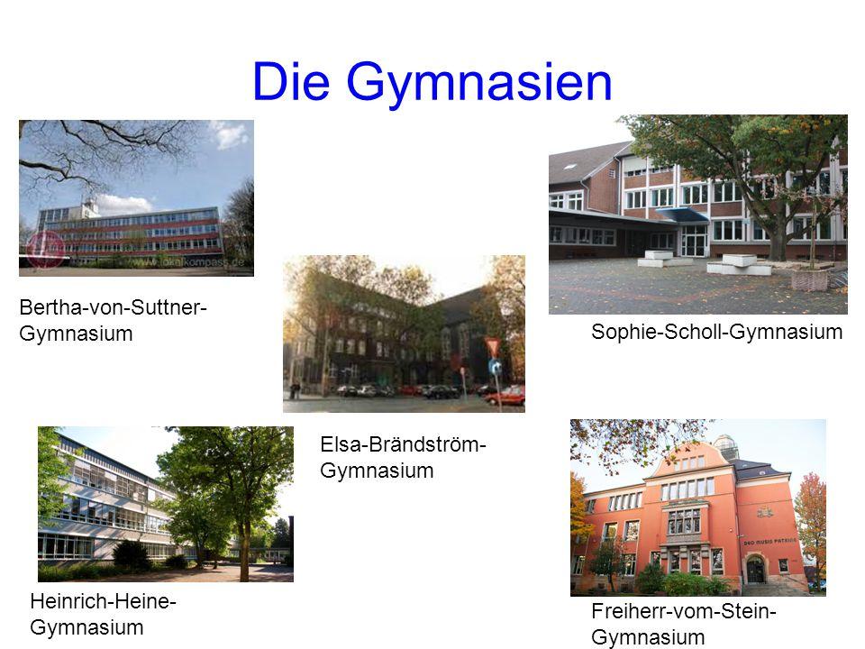 Die Gymnasien Bertha-von-Suttner-Gymnasium Sophie-Scholl-Gymnasium