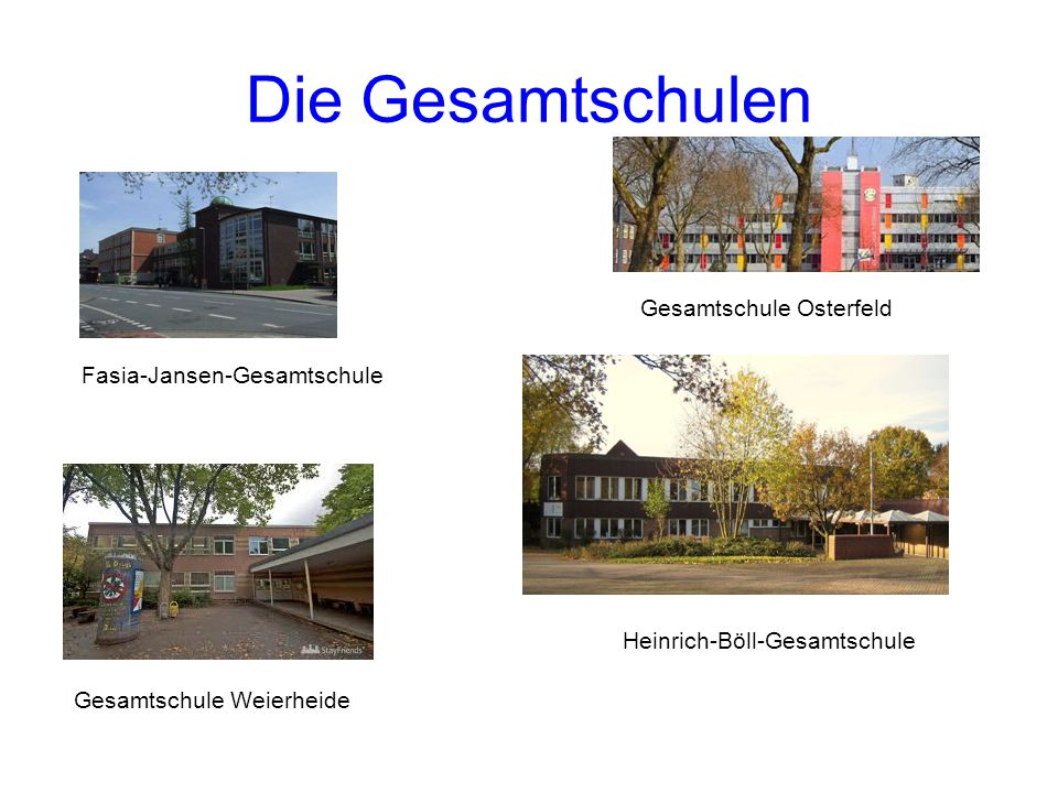 Die Gesamtschulen Gesamtschule Osterfeld Fasia-Jansen-Gesamtschule