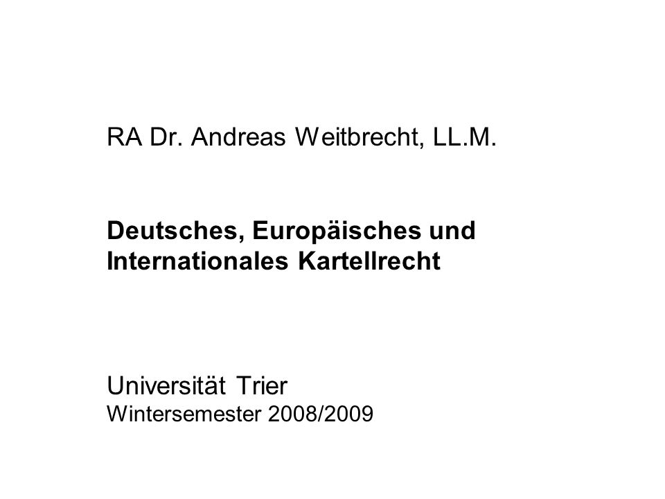 RA Dr. Andreas Weitbrecht, LL. M