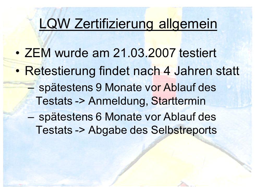 LQW Zertifizierung allgemein