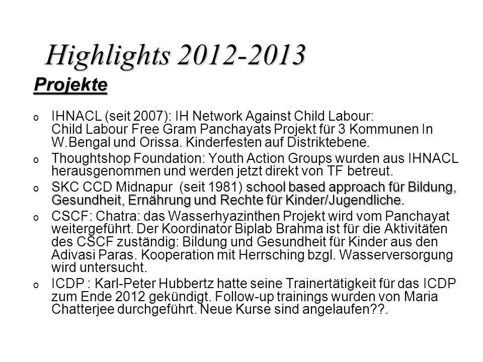 Highlights 2012-2013 Projekte.