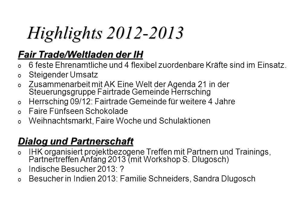 Highlights 2012-2013 Fair Trade/Weltladen der IH