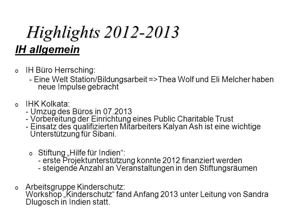 Highlights 2012-2013 IH allgemein IH Büro Herrsching: