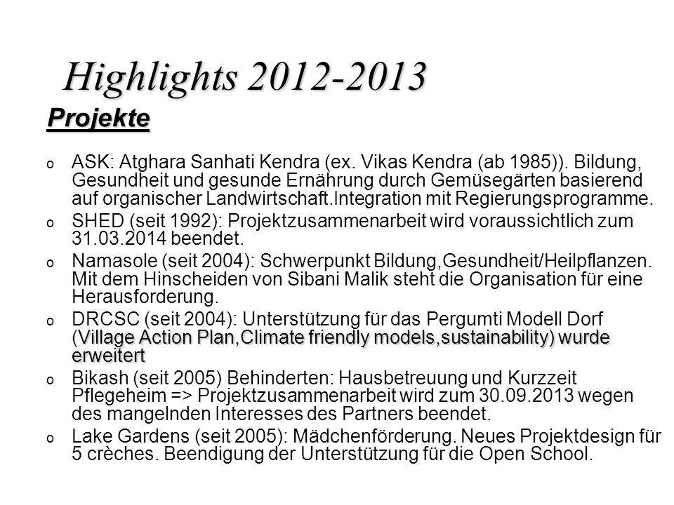 Highlights 2012-2013 Projekte.