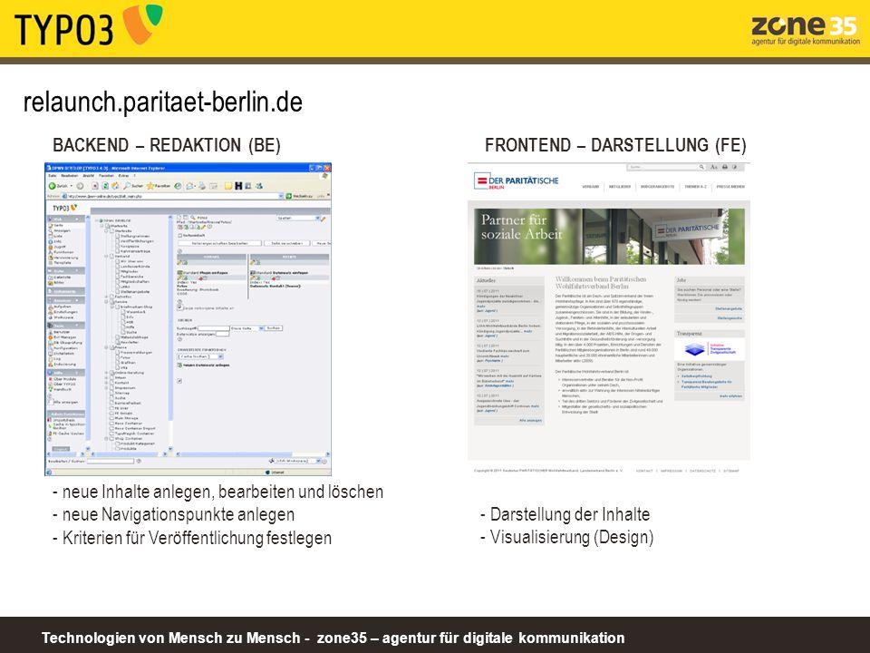 relaunch.paritaet-berlin.de BACKEND – REDAKTION (BE)