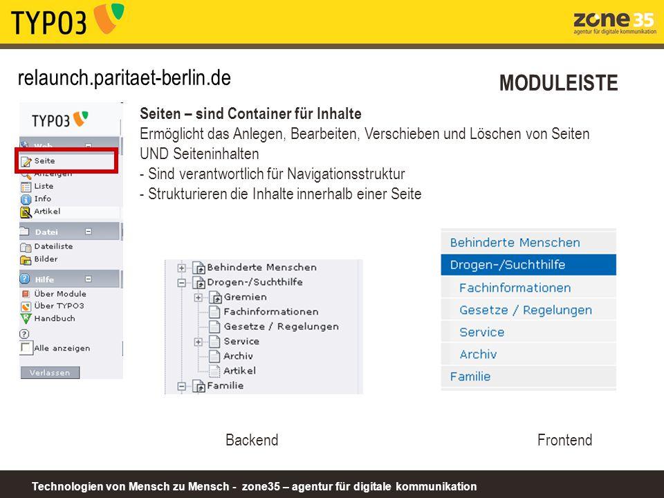 relaunch.paritaet-berlin.de MODULEISTE