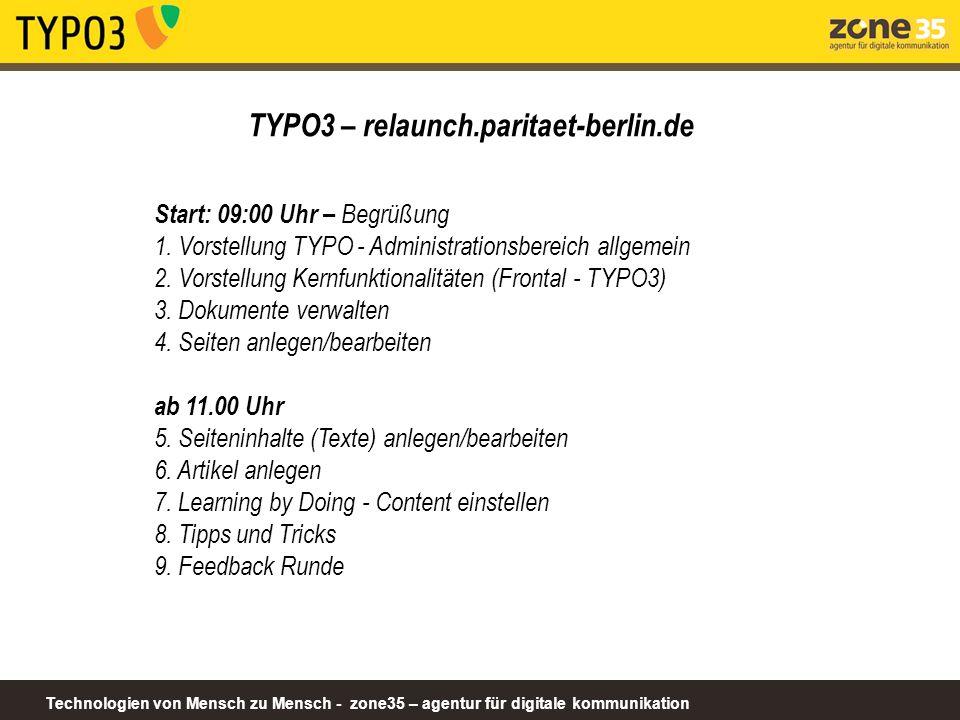 TYPO3 – relaunch.paritaet-berlin.de