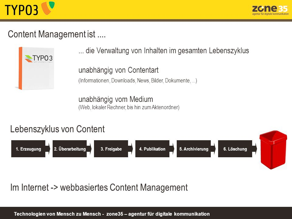 Content Management ist ....