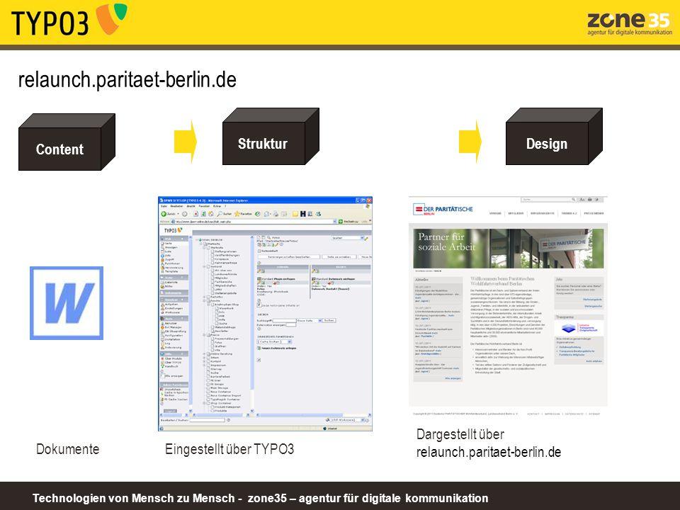 relaunch.paritaet-berlin.de Struktur Design Content Dokumente
