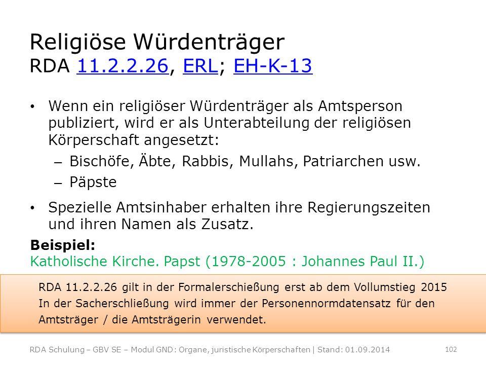 Religiöse Würdenträger RDA 11.2.2.26, ERL; EH-K-13