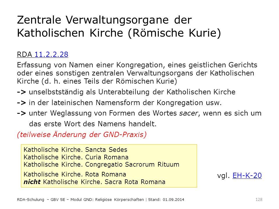 Zentrale Verwaltungsorgane der Katholischen Kirche (Römische Kurie)