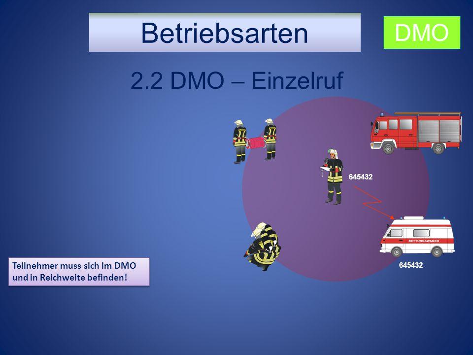 Betriebsarten DMO 2.2 DMO – Einzelruf