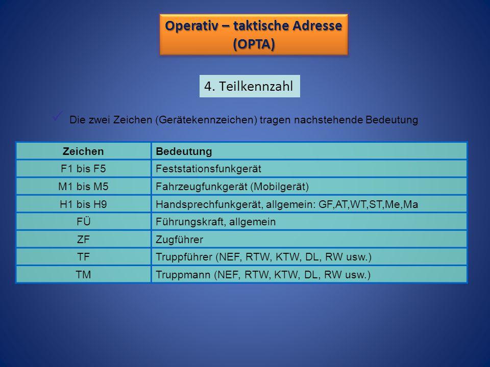 Operativ – taktische Adresse