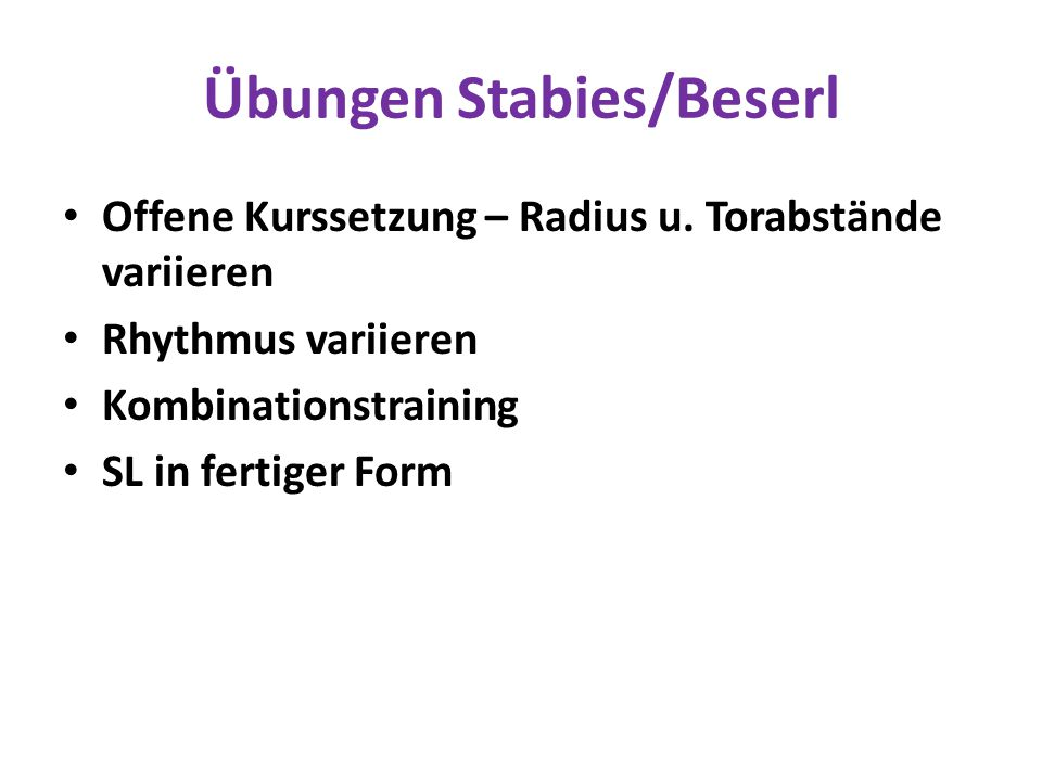 Übungen Stabies/Beserl
