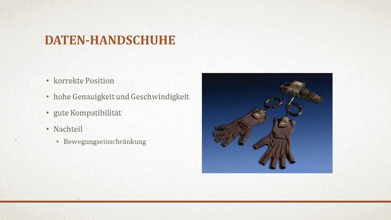 Daten-handschuhe korrekte Position