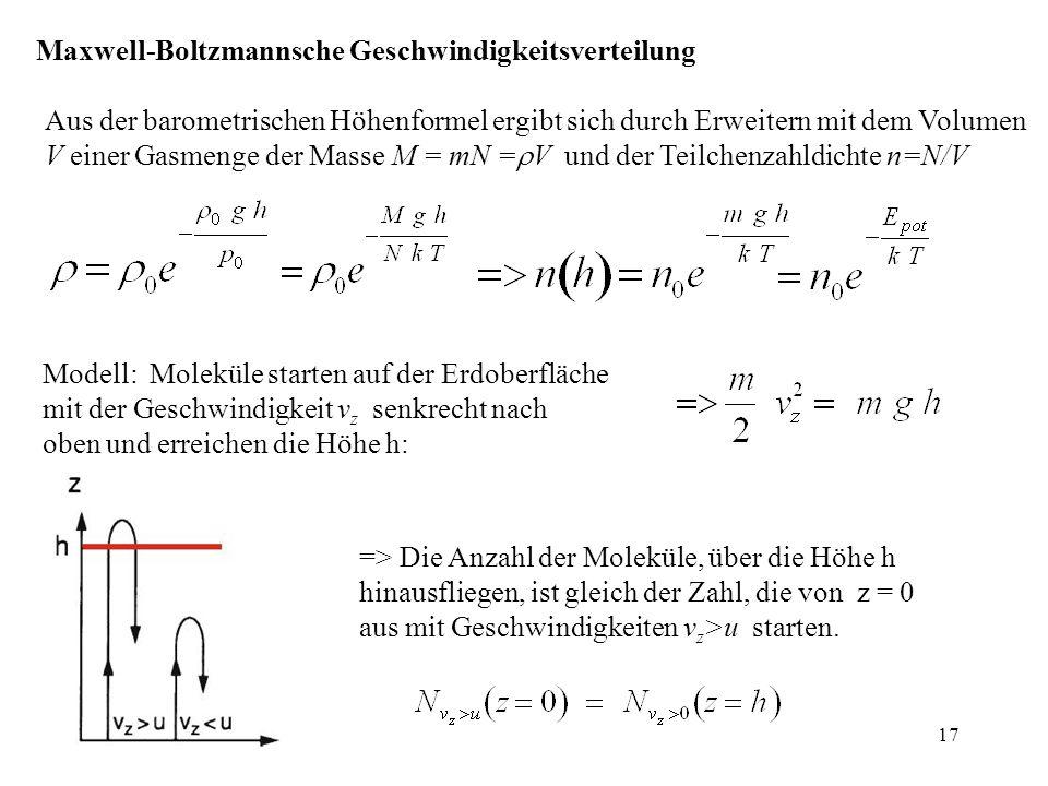 Maxwell-Boltzmannsche Geschwindigkeitsverteilung