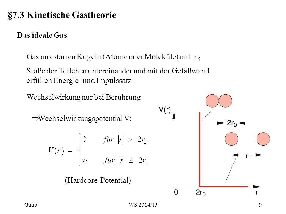 §7.3 Kinetische Gastheorie