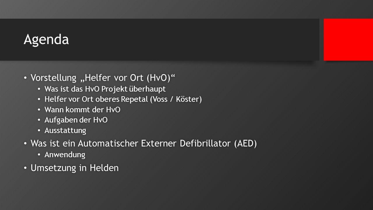 """Agenda Vorstellung """"Helfer vor Ort (HvO)"""