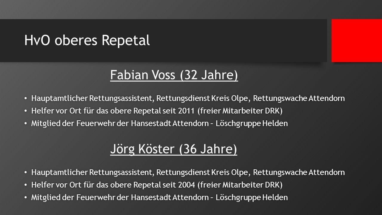HvO oberes Repetal Fabian Voss (32 Jahre) Jörg Köster (36 Jahre)