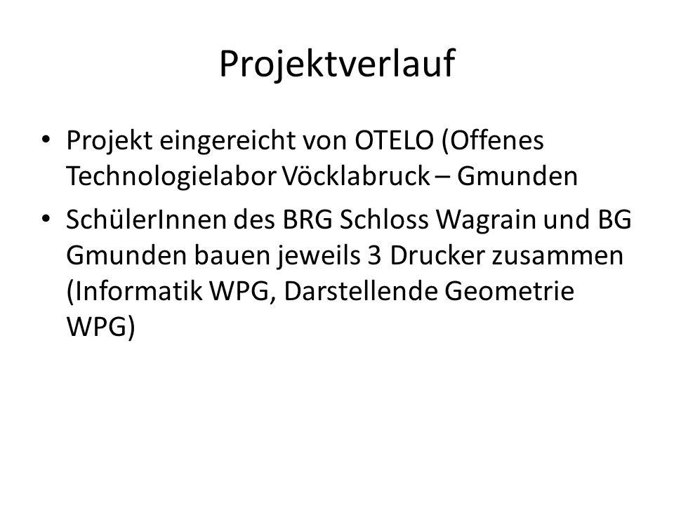 Projektverlauf Projekt eingereicht von OTELO (Offenes Technologielabor Vöcklabruck – Gmunden.