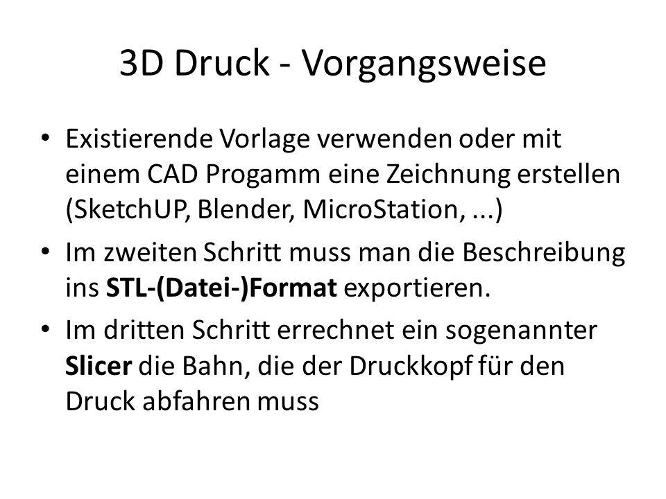 3D Druck - Vorgangsweise