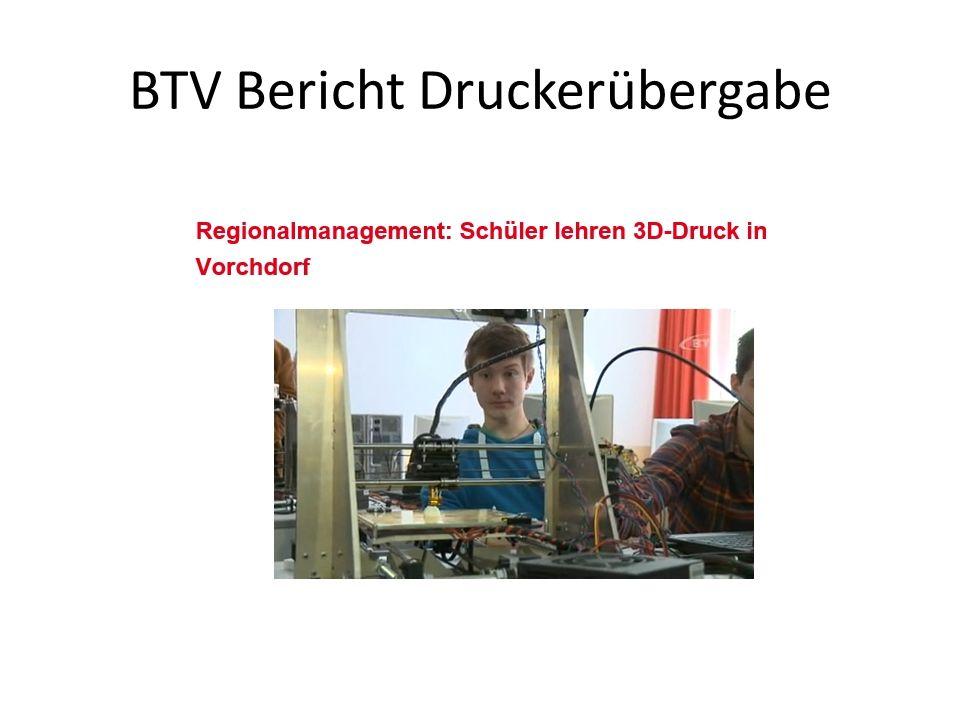 BTV Bericht Druckerübergabe
