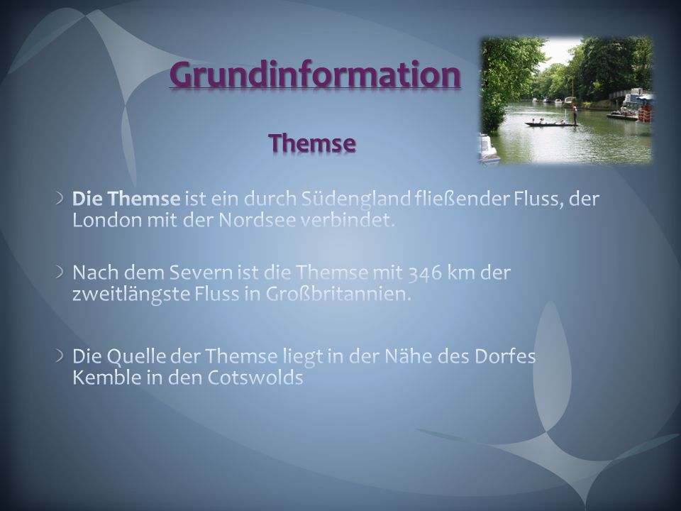 Grundinformation Themse