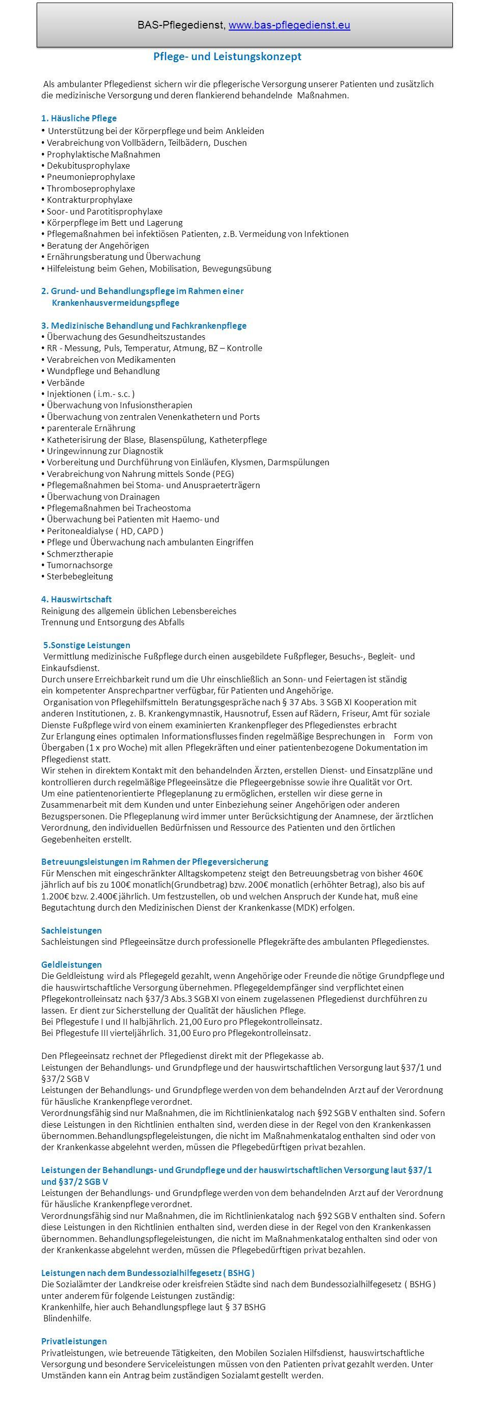 BAS-Pflegedienst, www.bas-pflegedienst.eu