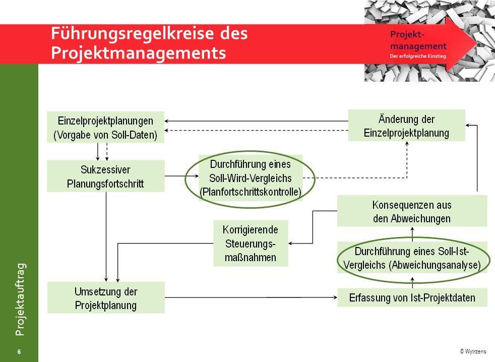 Führungsregelkreise des Projektmanagements