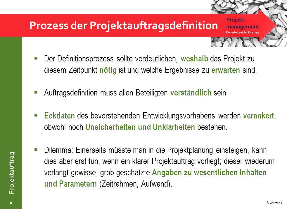 Prozess der Projektauftragsdefinition