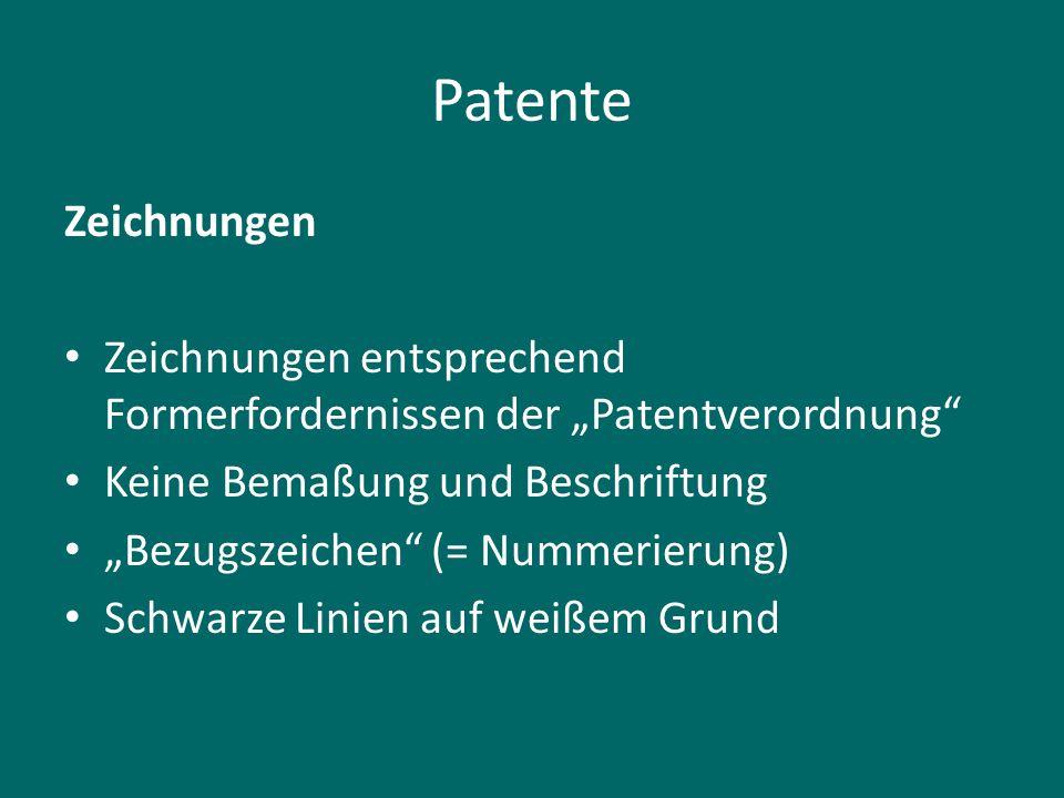 """Patente Zeichnungen. Zeichnungen entsprechend Formerfordernissen der """"Patentverordnung Keine Bemaßung und Beschriftung."""