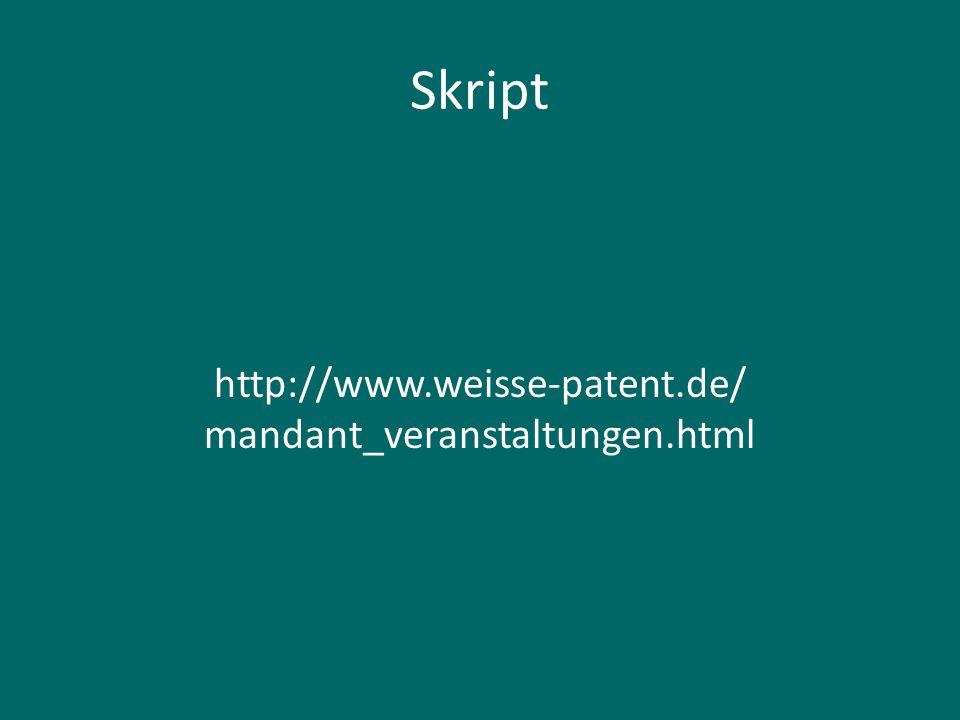 http://www.weisse-patent.de/ mandant_veranstaltungen.html
