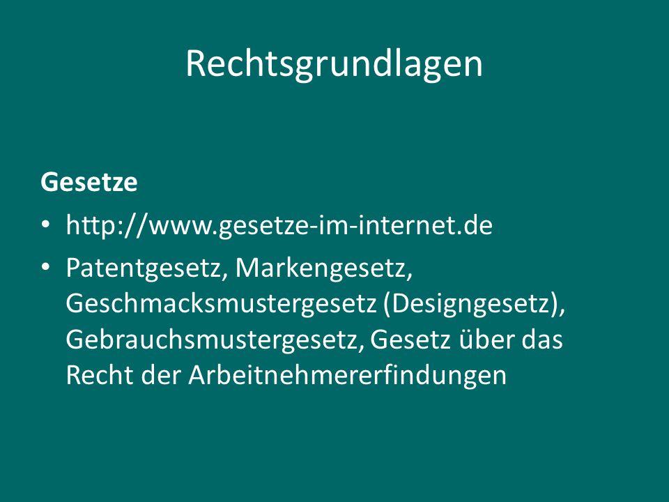 Rechtsgrundlagen Gesetze http://www.gesetze-im-internet.de