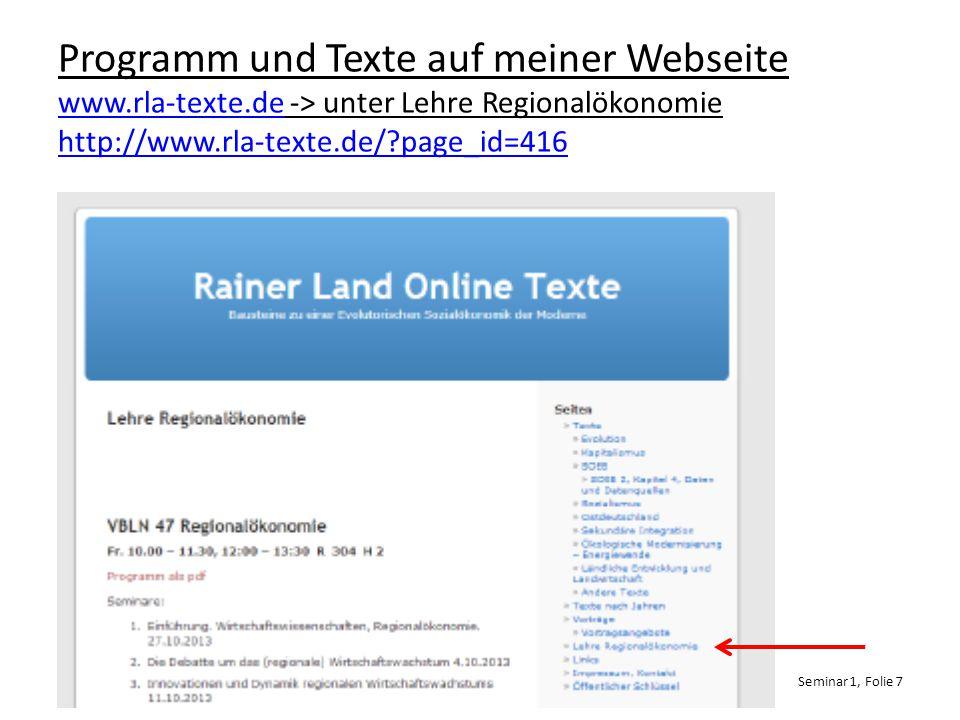 Programm und Texte auf meiner Webseite www. rla-texte