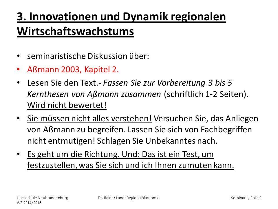 3. Innovationen und Dynamik regionalen Wirtschaftswachstums