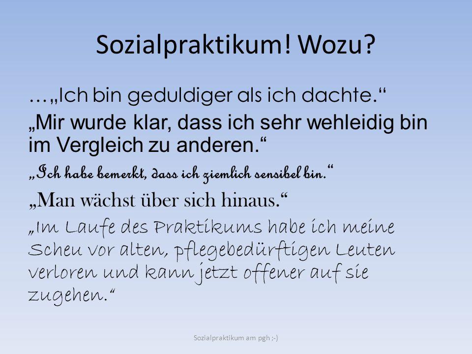 Sozialpraktikum am pgh ;-)
