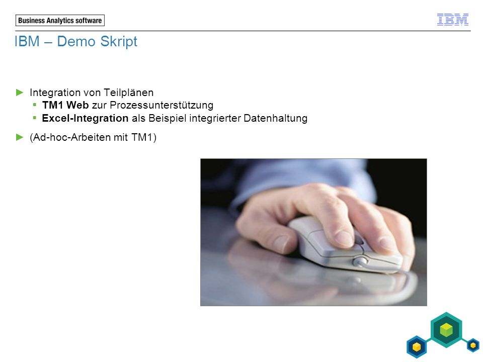 IBM – Demo Skript Integration von Teilplänen