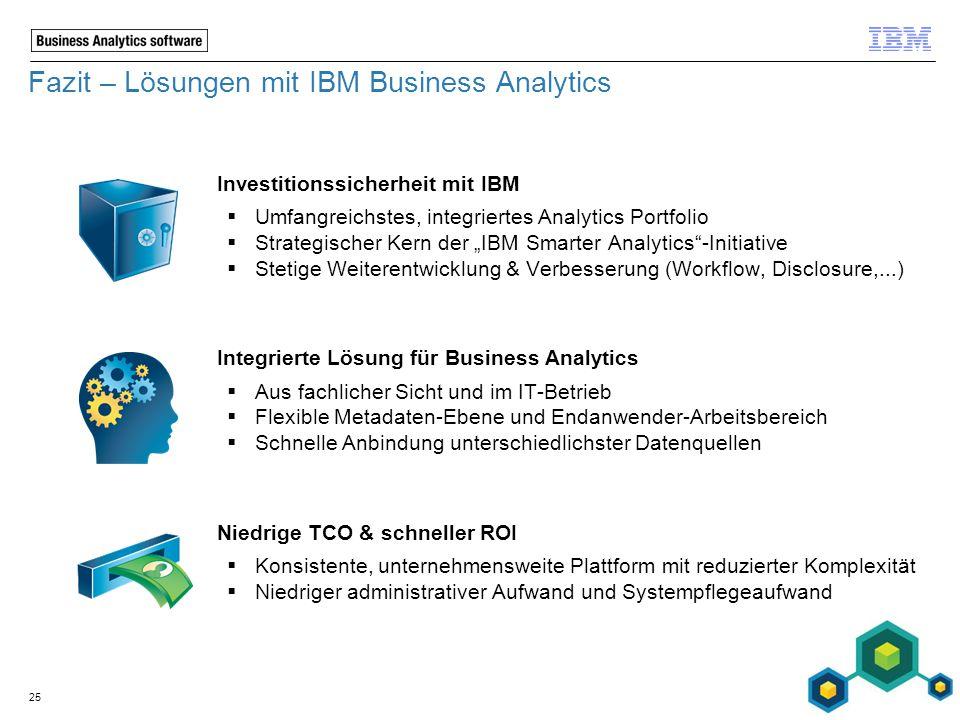 Fazit – Lösungen mit IBM Business Analytics