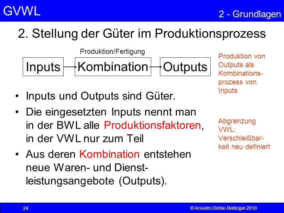 2. Stellung der Güter im Produktionsprozess