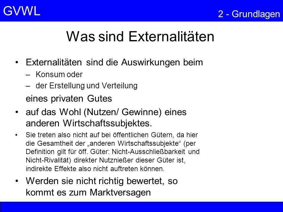 Was sind Externalitäten
