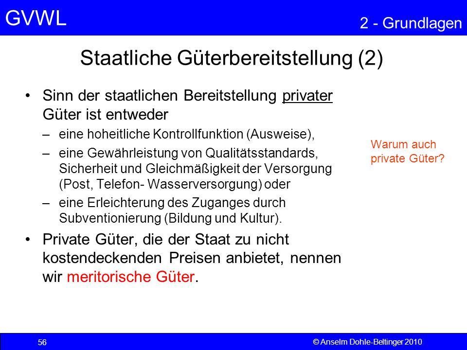 Staatliche Güterbereitstellung (2)