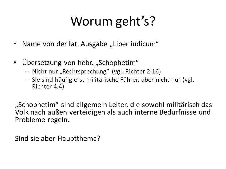 """Worum geht's Name von der lat. Ausgabe """"Liber iudicum"""