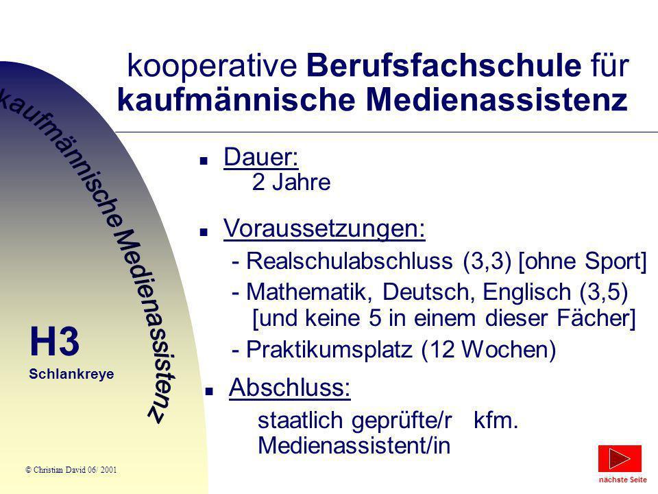 kooperative Berufsfachschule für kaufmännische Medienassistenz